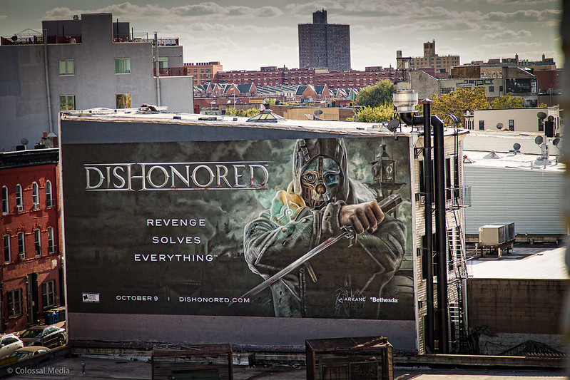 Dishonored painted wall