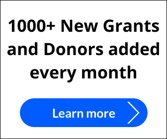 1000 new grants and donors