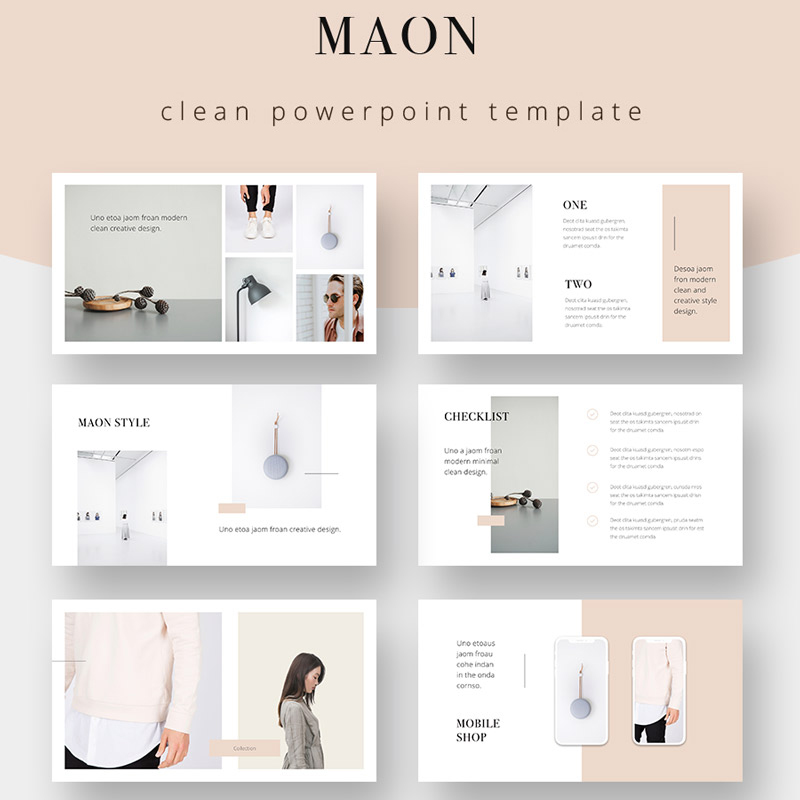 PowerPoint шаблон MAON - Powerpoint Template