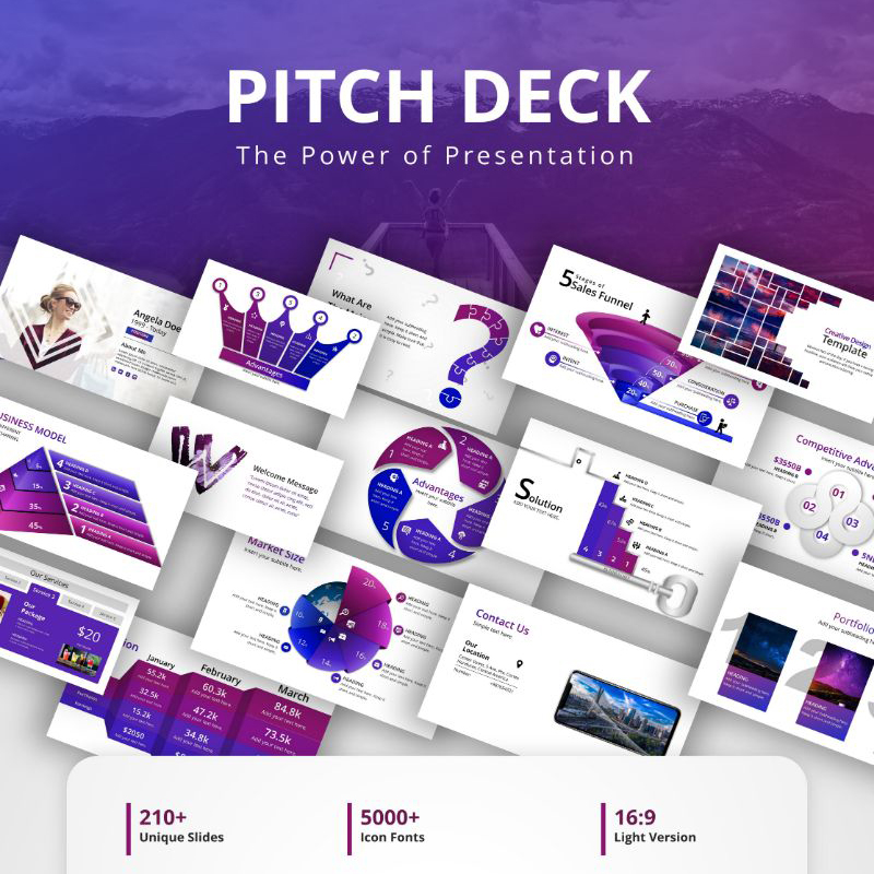 PowerPoint шаблон Pitch Deck
