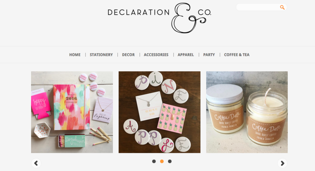 Declaration & Co aesthetic example